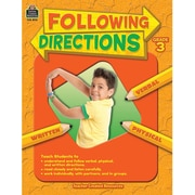 Teacher Created Resources Following Directions Book, Grades 3rd