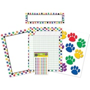Teacher Created Resources® Bulletin Board Set, Colorful Paw Prints