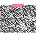 Top Notch Teacher Products® File Folder, Zebra/Pink, 3rd Cut