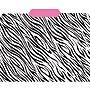 Top Notch Teacher Products® File Folder, Zebra/Pink, 3rd