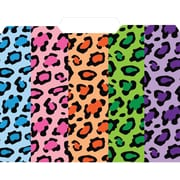 Top Notch Teacher Products® File Folder, Multicolored Leopard, 3rd Cut