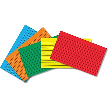 Top Notch Teacher Products® 3in. x 5in. Lined Border Index Card, Primary Colors