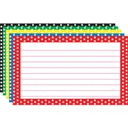 "Top Notch Teacher Products® 3"" x 5"" Lined Border Index Card, Polka Dot"
