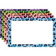 Top Notch Teacher Products® 3 x 5 Border Index Card, Blank Multi Colored Leopard