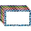 Top Notch Teacher Products® 4in. x 6in. Blank Border Index Card, Multi Colored Leopard