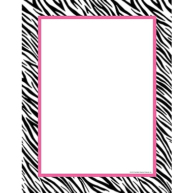 Top Notch Teacher Products® 8 1/2in. x 11in. Computer Paper, Zebra/Pink