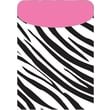 Top Notch Teacher Products® Zebra/Pink Peel and Stick Brite Pocket, 35/Pack