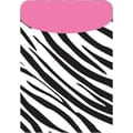 Top Notch Teacher Products® Zebra/Pink Peel and Stick Brite Pocket, 25/Pack