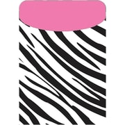 Top Notch Teacher Products TOP6378 Peel and Stick Brite Pocket, Zebra/Pink