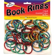 Pencil Grip™ Book Rings, Assorted, 50/Pack