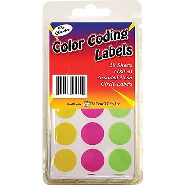 Pencil Grip™ Neon Circle Labels