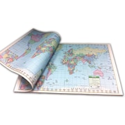 "Kappa Map Group/Universal Maps World Study Pad, 18""(W)"
