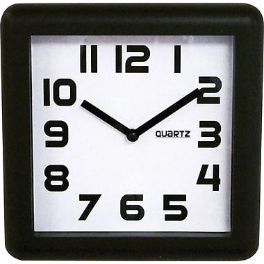 Quadro Designs Square Wall Clock, Black, 8
