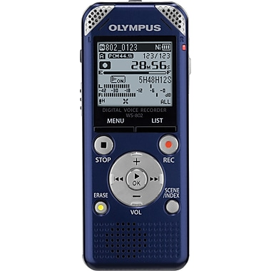 Olympus WS-802 Digital Voice Recorder, Blue