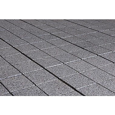 Kontiki Interlocking 11 3/4in. x 11 3/4in. Granite Tile, Dark Gray
