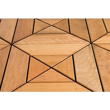 FlexDeck 12in. x 12in. Wood Deck Tile, Dubai Itauba
