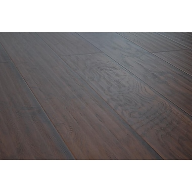 Lamton™ 12 mm Wide Board Laminate Floor, Hickory Ebony