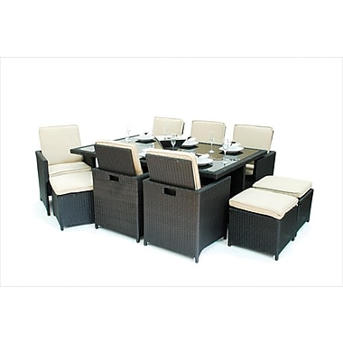 Kontiki Monte Carlo Series Patio Dining Cube Set, 13 Piece