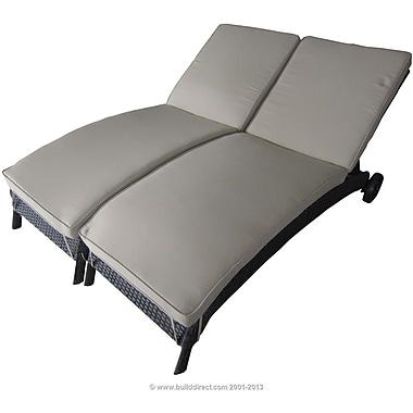 Kontiki Monte Carlo Series Patio Wicker Chaise Lounger Set, 2 Piece