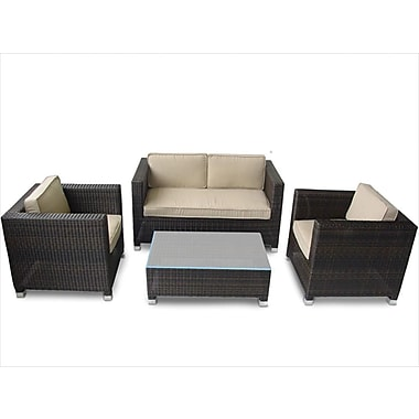 Kontiki Monte Carlo Series Patio Conversation Set, 4 Piece