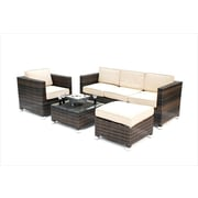 Kontiki Monte Carlo Series Patio Conversation Sofa Set, 4 Piece