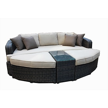 Kontiki Monte Carlo Series Patio Day Bed Set, 4 Piece