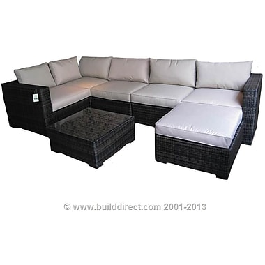 Kontiki Monte Carlo Series Patio Sectional Sofa Set, 7 Piece