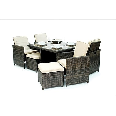 Kontiki Monte Carlo Series Patio Dining Cube Set, 9 Piece