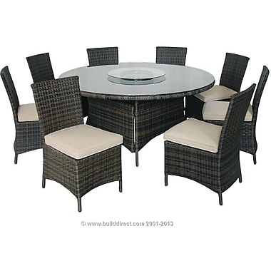 Kontiki Monte Carlo Series Patio Round Dining Set, 9 Piece