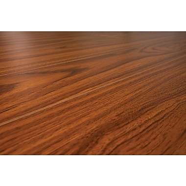 Lamton™ 12 mm Narrow Board Laminate Floor With Underlay Attached, Odessa Mahogany