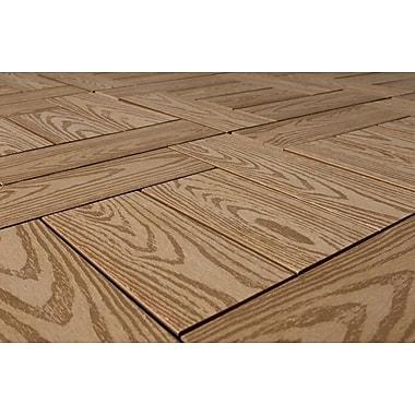 Kontiki Composite 12in. x 12in. Interlocking Deck Tile, Teak Wood Grain