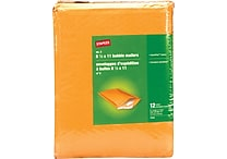 Staples Peel-and-seal #2 Bubble Mailer, 8 1/2' x 11', Manilla, 12/Pack (27193-US/CC)