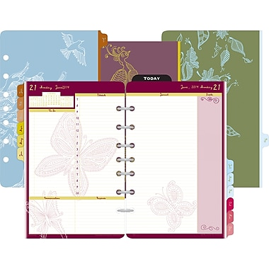 2014 Day-Timer® Two-Page-Per-Day Doodle by Flavia® Refill, 5 1/2in. x 8 1/2in.