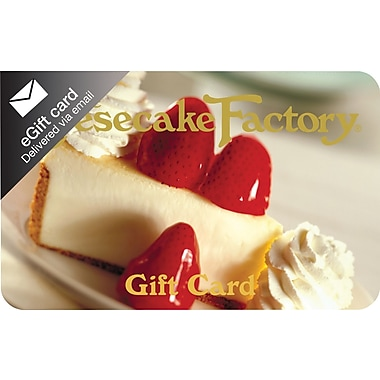 The Cheesecake Factory Gift Card, $25 (Email Delivery)