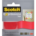 Scotch Expressions Tape, Red, Removeable, 3/4in. x 300in.