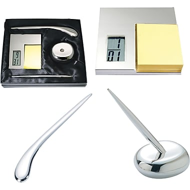 Natico Silver Desk Set, 3 Piece