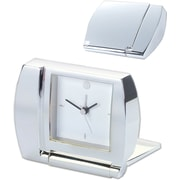 Natico Designer Series Folding Alarm Clock, Silver
