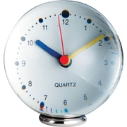 Natico Large Sphere Clock, Clear, Silver