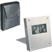 Natico Aluminum Folding Travel Alarm Clock, Aluminum