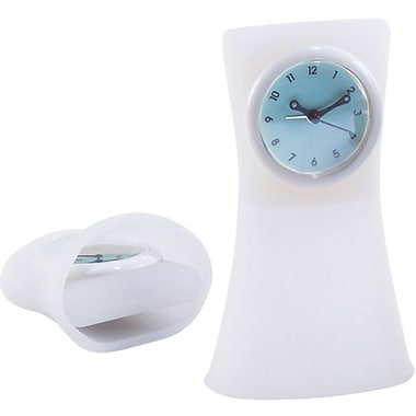 Natico 10-517CL Silicone Analog Travel Clock, Clear