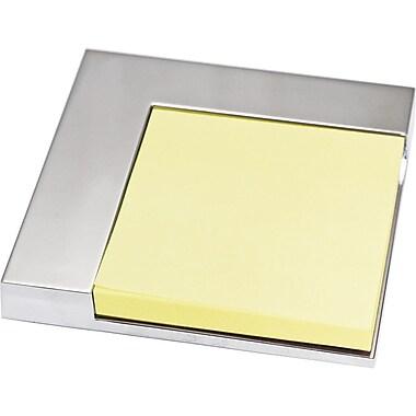 Natico L Shape Desk Memo Pad Holder, Silver