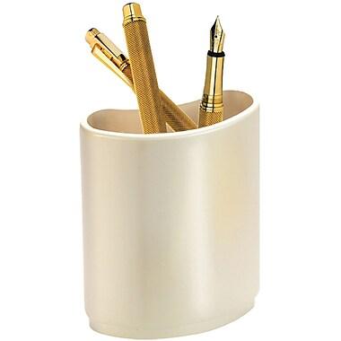 Natico Desk Pen and Pencil Holder, Pearl Silver