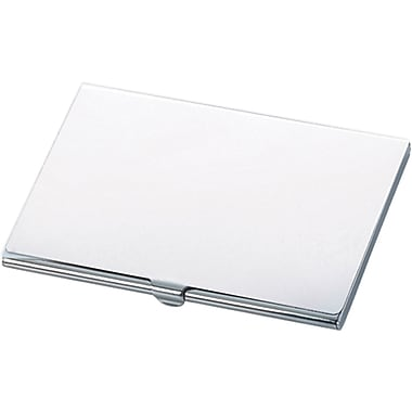 Natico Polished Silver Metal Business Card Case