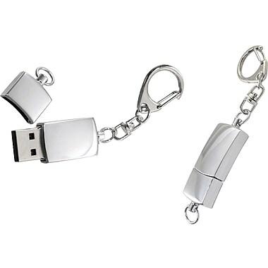Natico Polished Silver Metal USB Memory Drive, 4GB