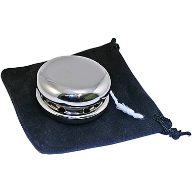 Natico Polished Silver Yo-Yo With Pouch