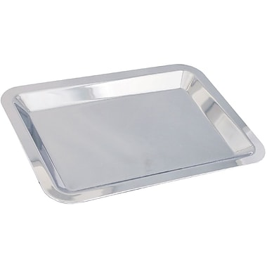 Natico Polished Silver Nickel Plated Small Serving Tray