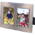Natico Stainless & Chrome Double Photo Frame, 2in. x 3in.