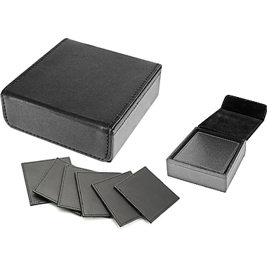 Natico Black Coaster Set, 6 Piece