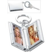 Natico Double Frame Key Ring, Silver