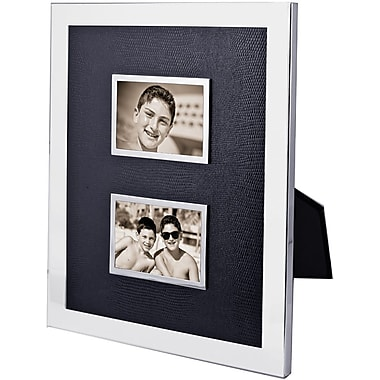 Natico Polished Silver Double Photo Frame, 2in. x 3in.